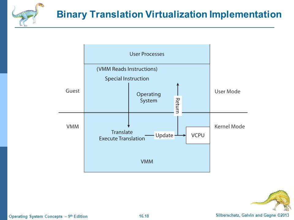 Binary Translation Virtualization Implementation