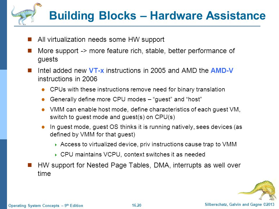 Building Blocks – Hardware Assistance
