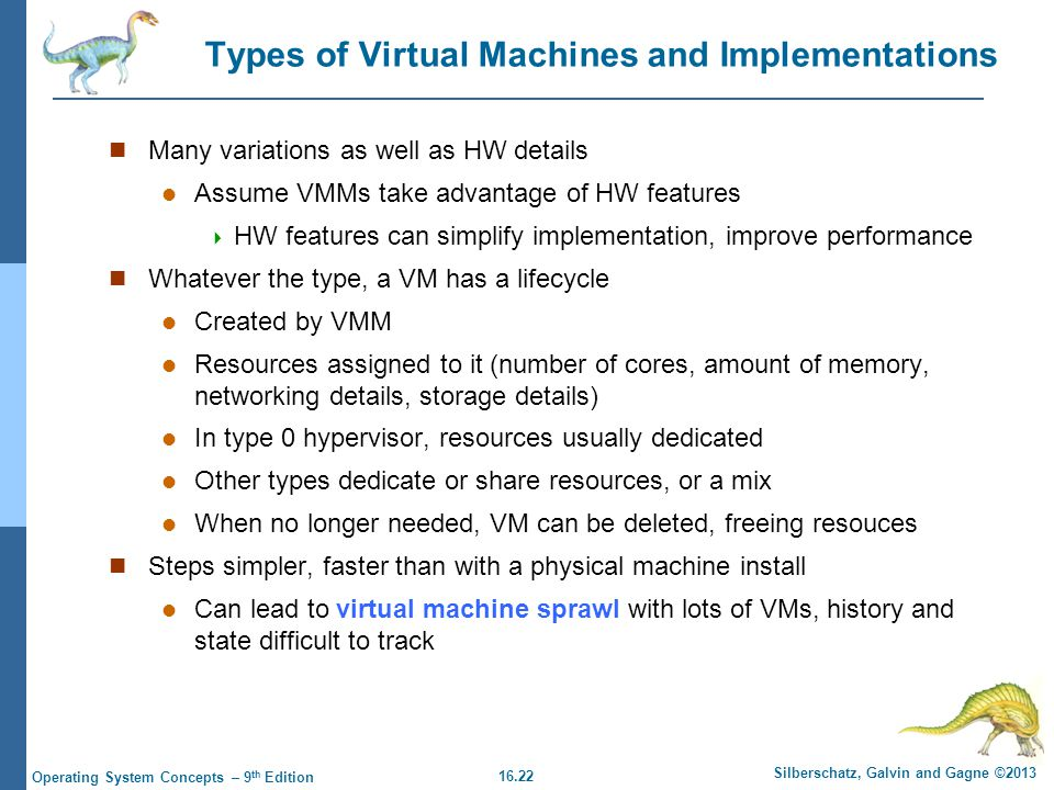 Types of Virtual Machines and Implementations