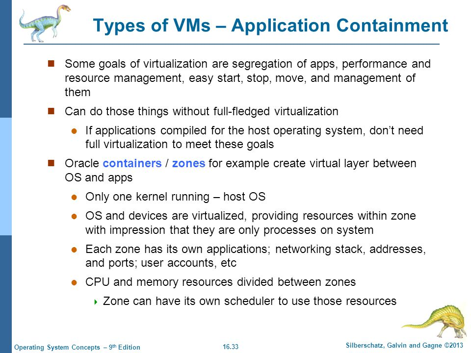 Types of VMs – Application Containment