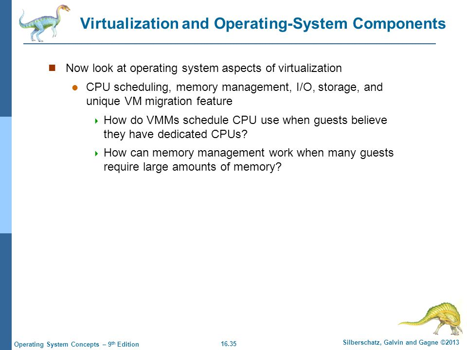 Virtualization and Operating-System Components