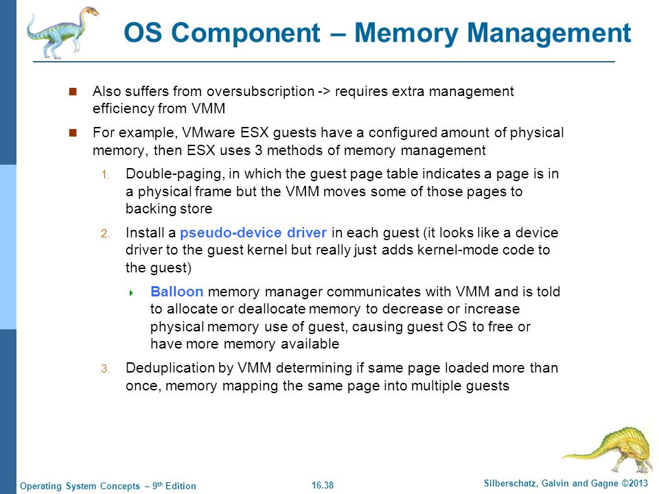 OS Component – Memory Management