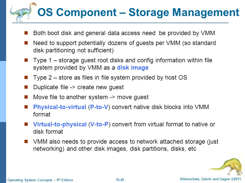 OS Component – Storage Management