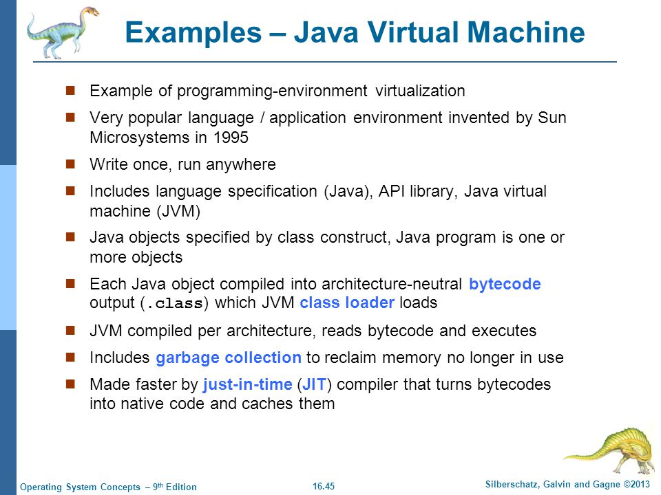 Examples – Java Virtual Machine