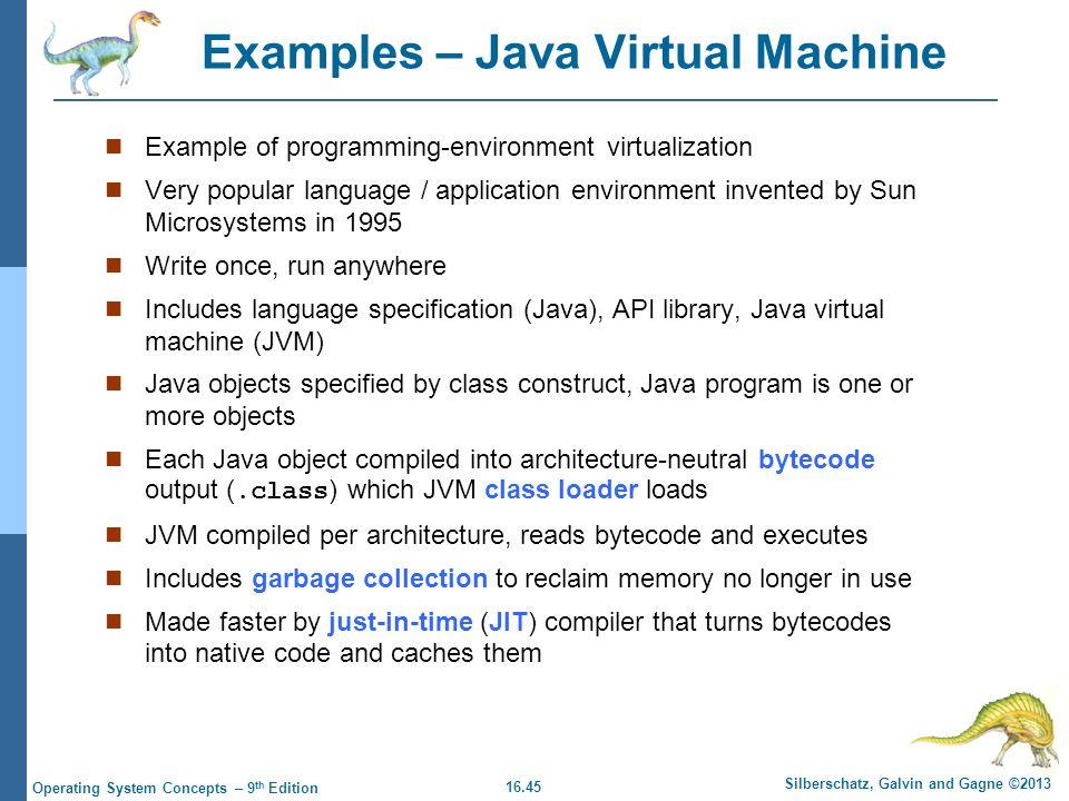 Examples – Java Virtual Machine