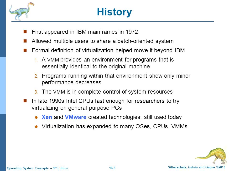 History First appeared in IBM mainframes in 1972