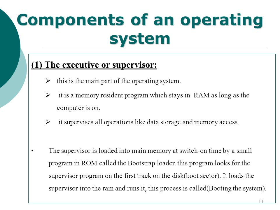 Components of an operating system