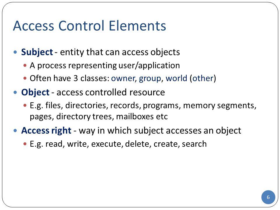 Access Control Elements