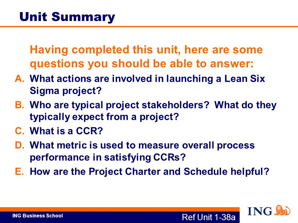 Unit Summary Having completed this unit, here are some questions you should be able to answer:
