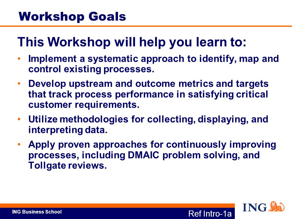 This Workshop will help you learn to: