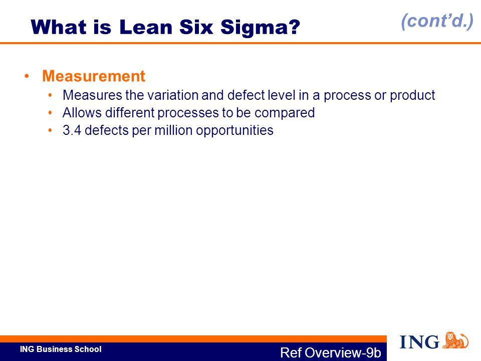 What is Lean Six Sigma (cont'd.) Measurement