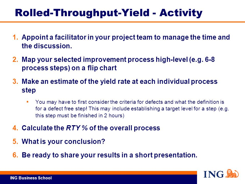 Rolled-Throughput-Yield - Activity