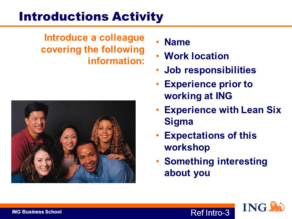 Introductions Activity