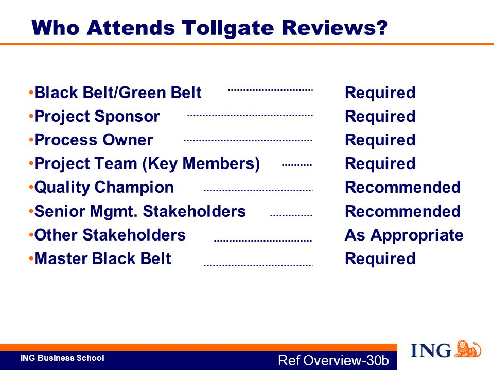 Who Attends Tollgate Reviews
