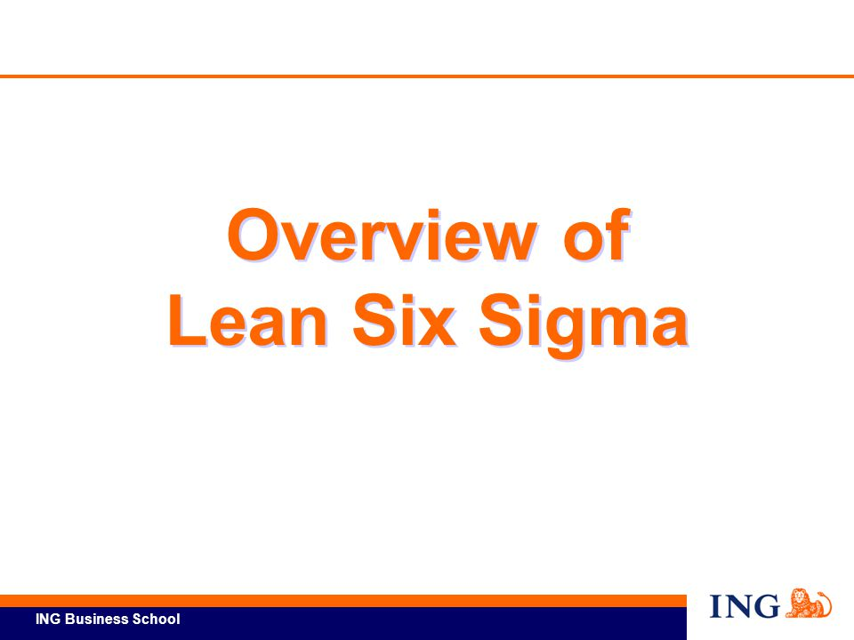 Overview of Lean Six Sigma