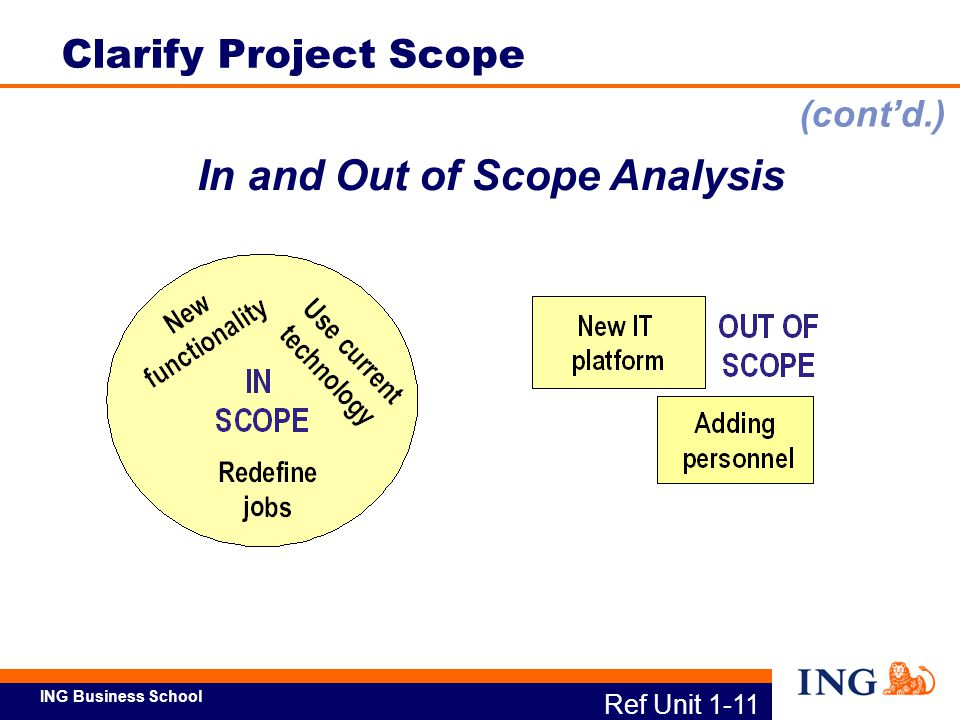 In and Out of Scope Analysis