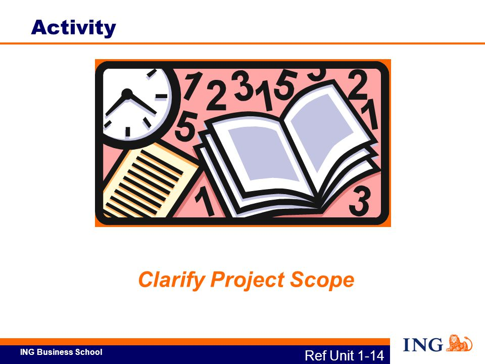 Activity Clarify Project Scope Ref Unit 1-14