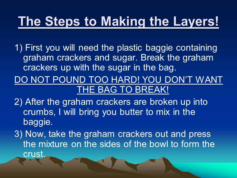 The Steps to Making the Layers!
