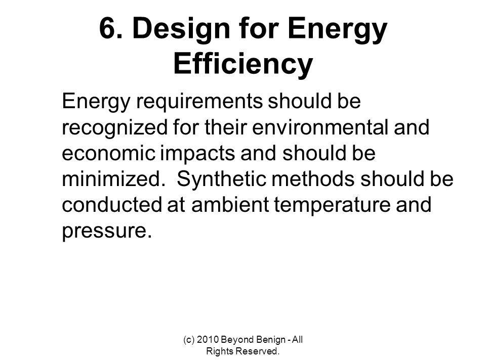 6. Design for Energy Efficiency