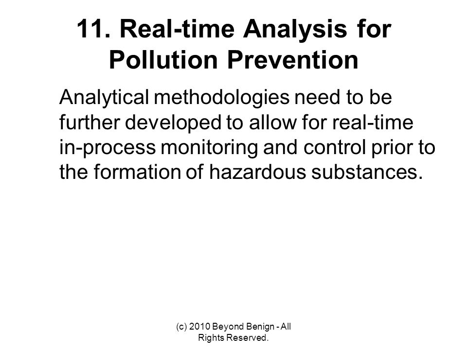 11. Real-time Analysis for Pollution Prevention