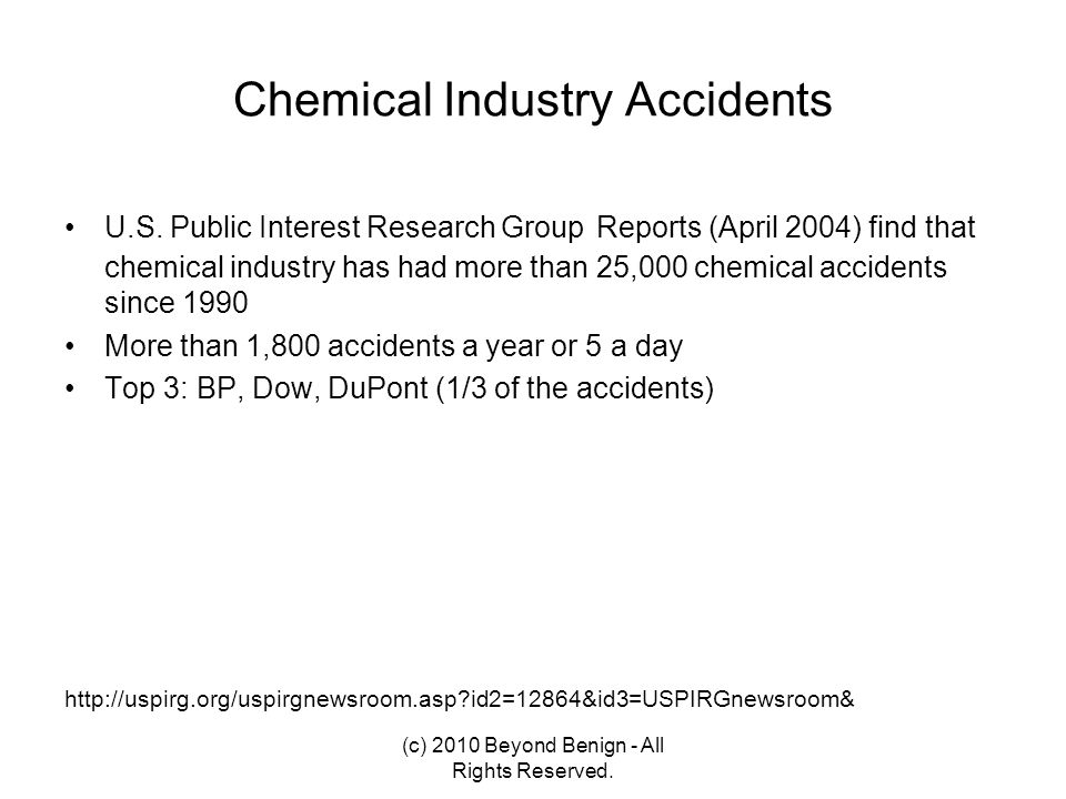 Chemical Industry Accidents