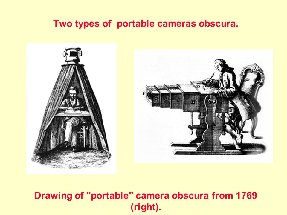Two types of portable cameras obscura