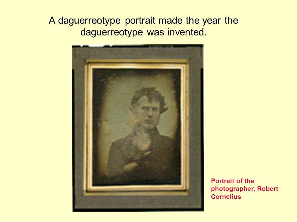 A daguerreotype portrait made the year the daguerreotype was invented.