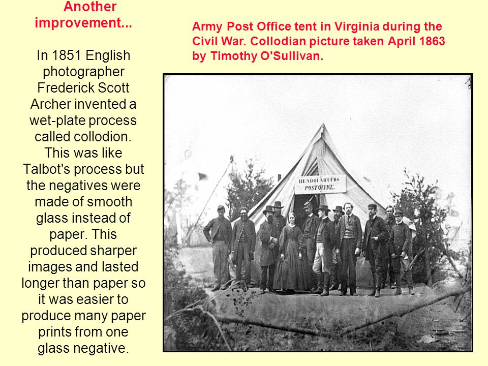 Army Post Office tent in Virginia during the Civil War