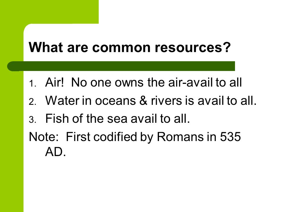 What are common resources