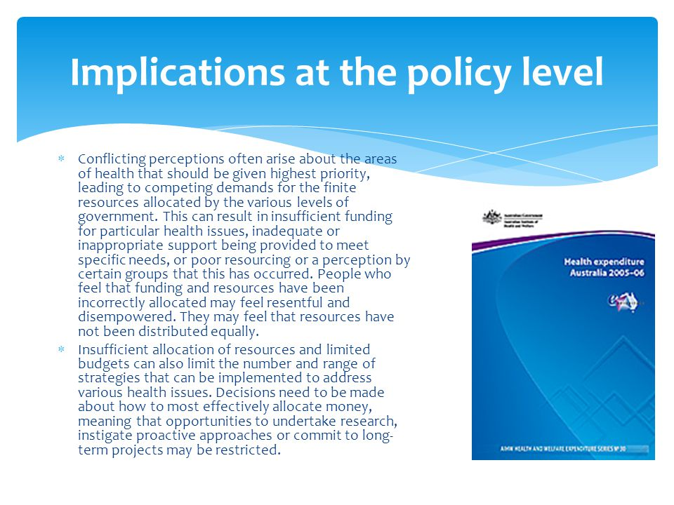 Implications at the policy level