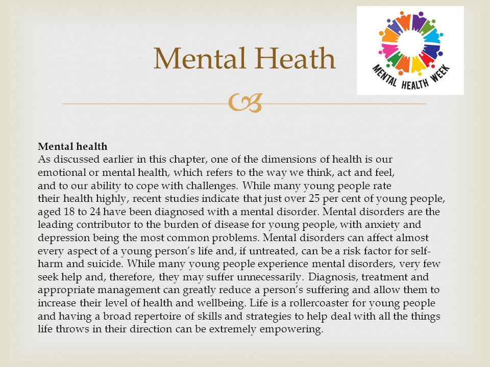 Mental Heath Mental health