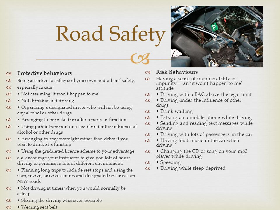 Road Safety Protective behaviours Risk Behaviours