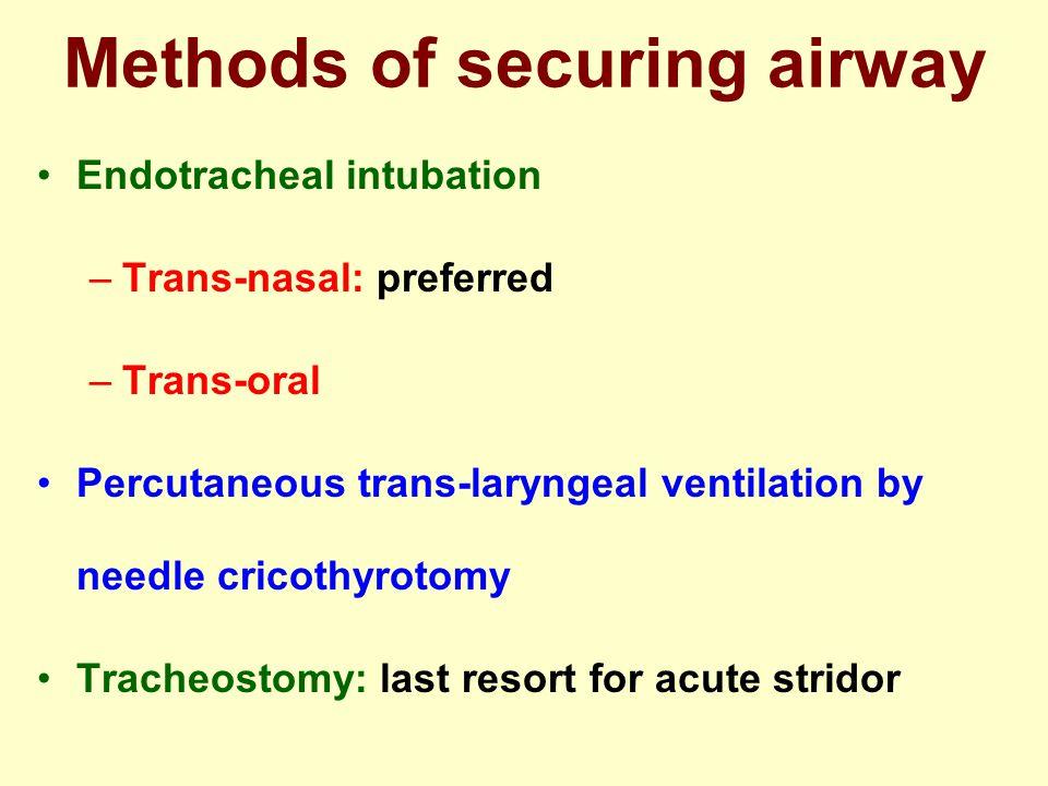 Methods of securing airway