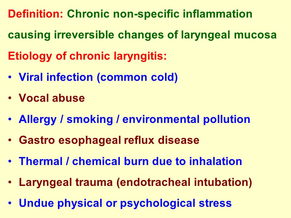Definition: Chronic non-specific inflammation