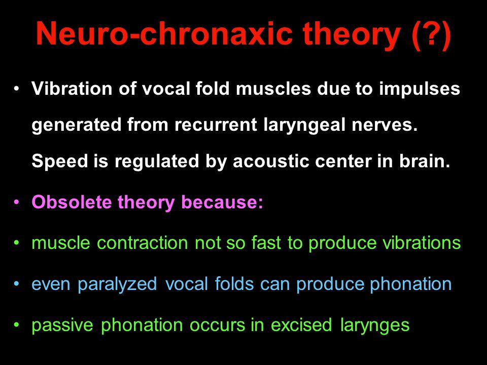 Neuro-chronaxic theory ( )