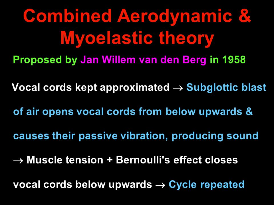 Combined Aerodynamic & Myoelastic theory