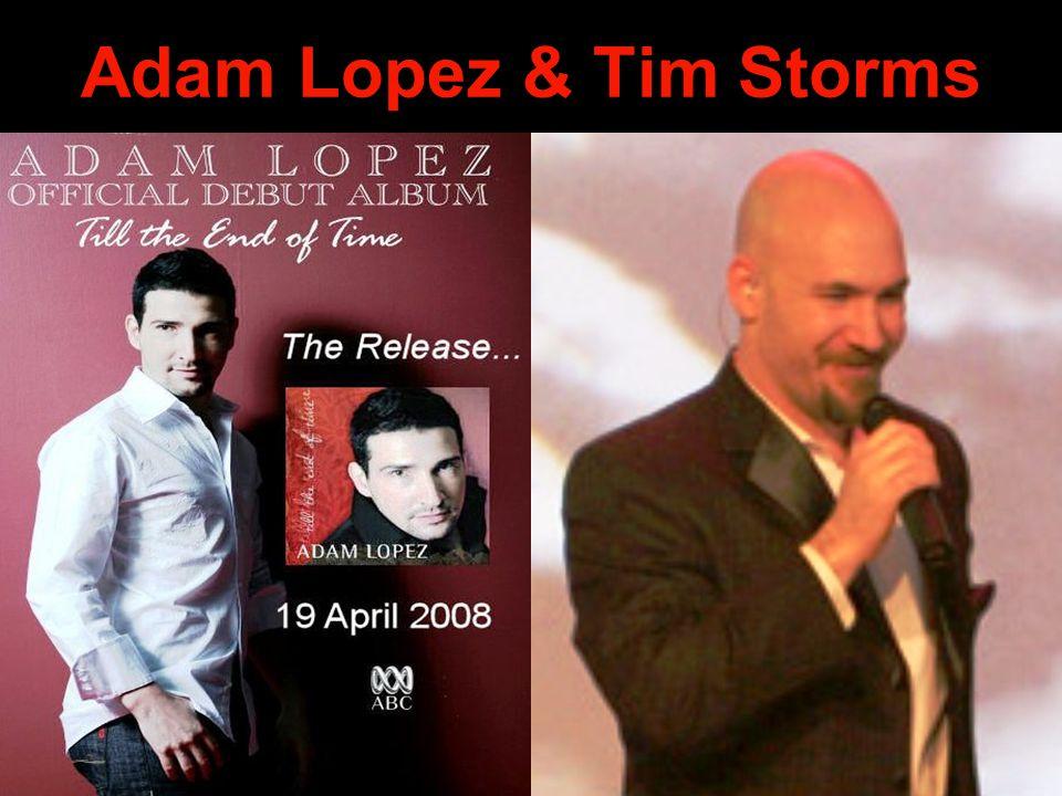Adam Lopez & Tim Storms