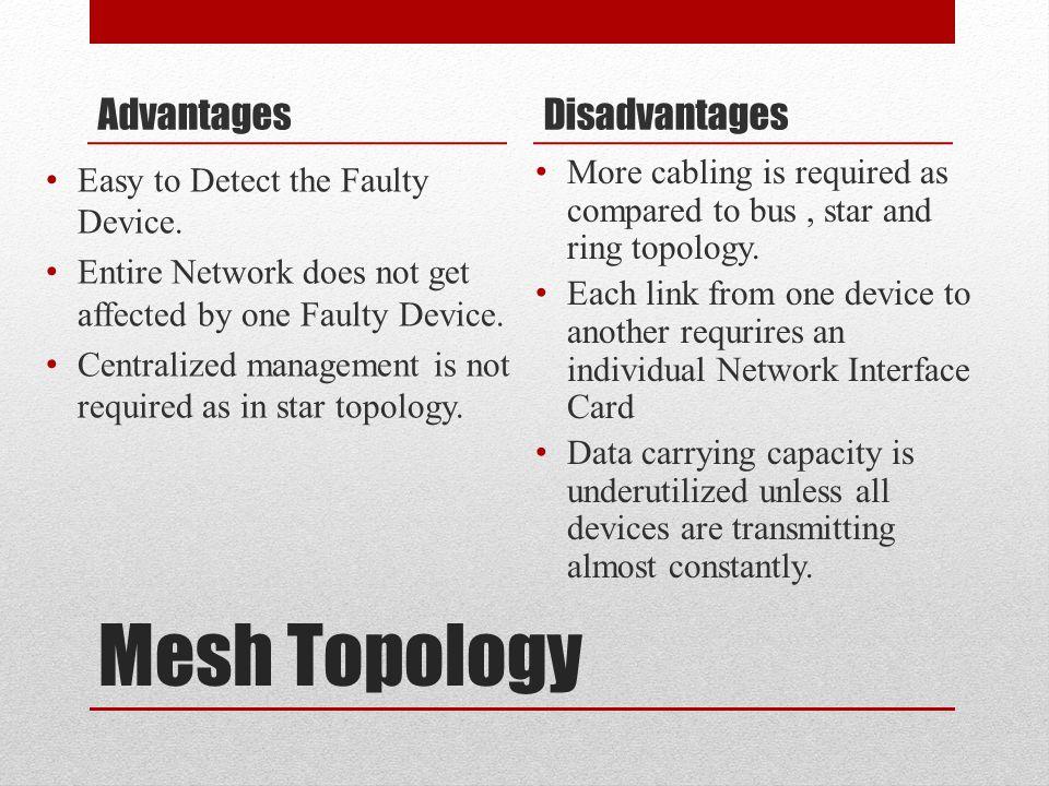 Mesh Topology Advantages Disadvantages