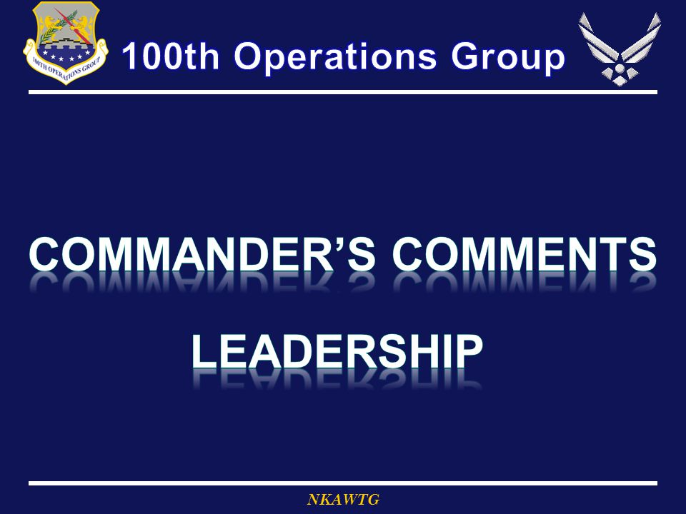Commander's Comments Leadership