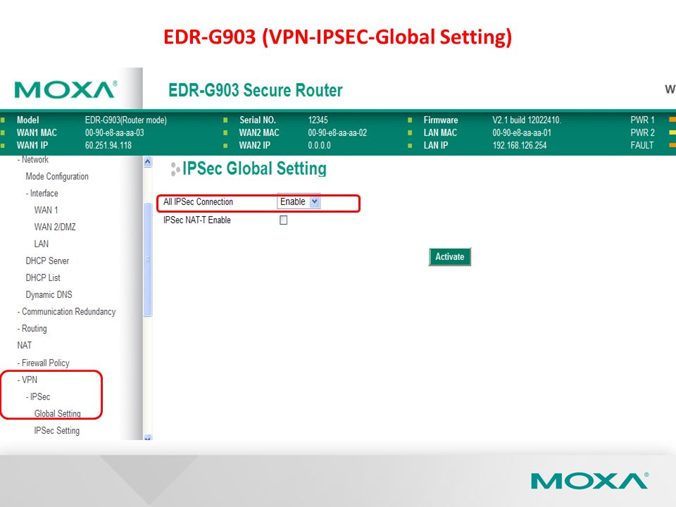 EDR-G903 (VPN-IPSEC-Global Setting)