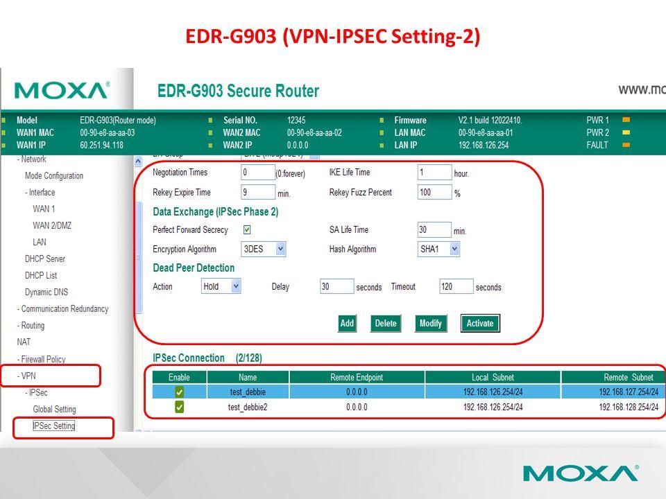 EDR-G903 (VPN-IPSEC Setting-2)