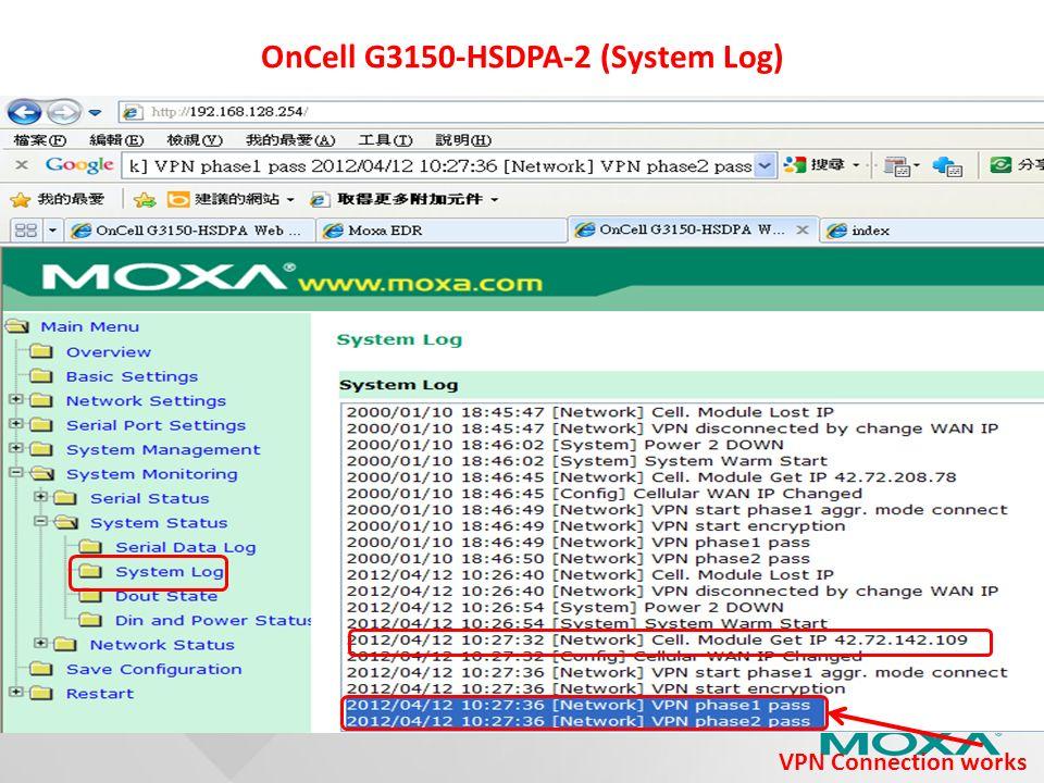 OnCell G3150-HSDPA-2 (System Log)