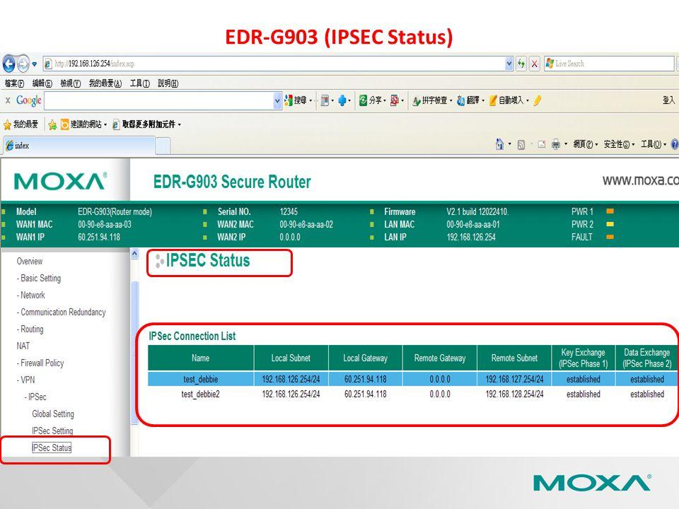 EDR-G903 (IPSEC Status)
