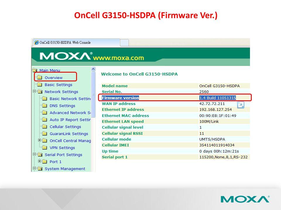 OnCell G3150-HSDPA (Firmware Ver.)