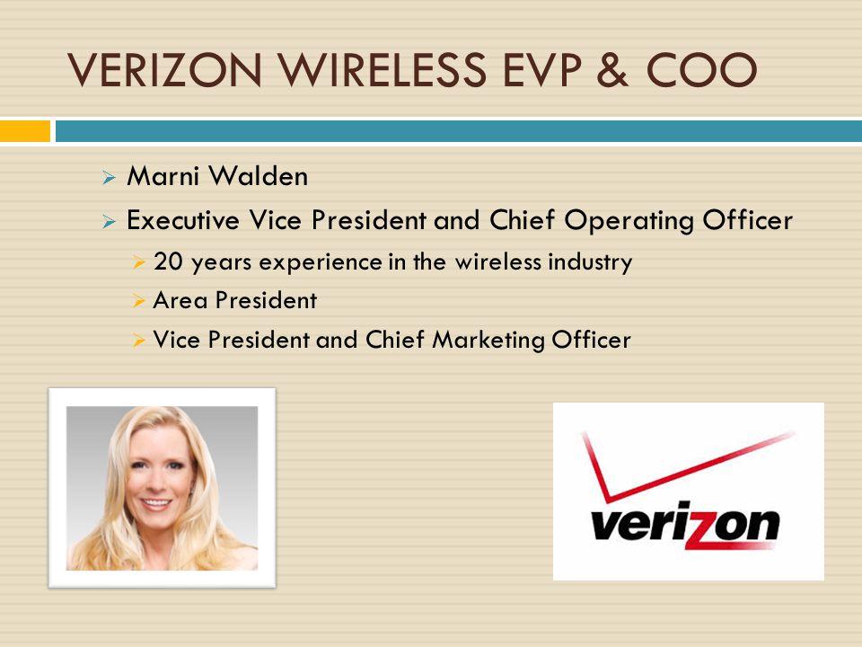 VERIZON WIRELESS EVP & COO