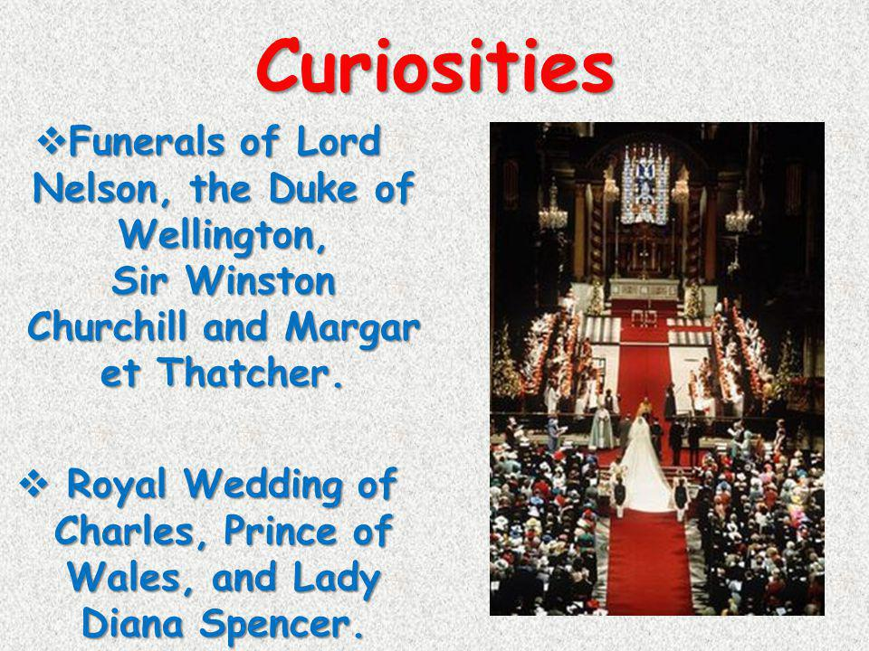Royal Wedding of Charles, Prince of Wales, and Lady Diana Spencer.
