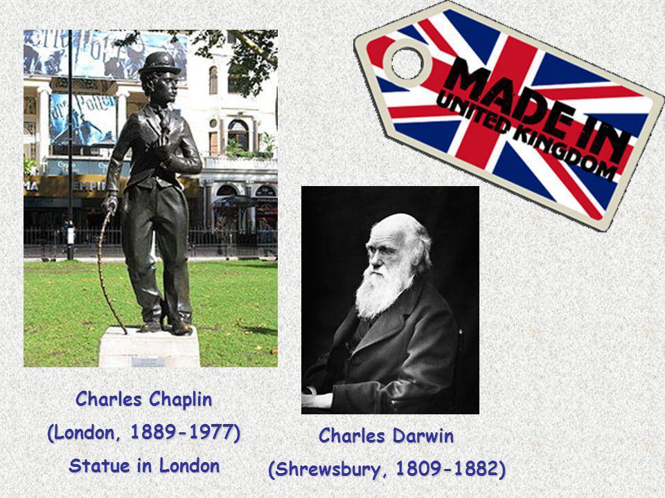 Charles Chaplin (London, 1889-1977) Statue in London Charles Darwin (Shrewsbury, 1809-1882)