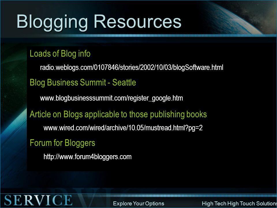 Blogging Resources Loads of Blog info Blog Business Summit - Seattle