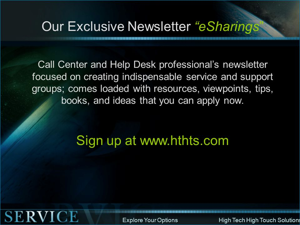 Our Exclusive Newsletter eSharings