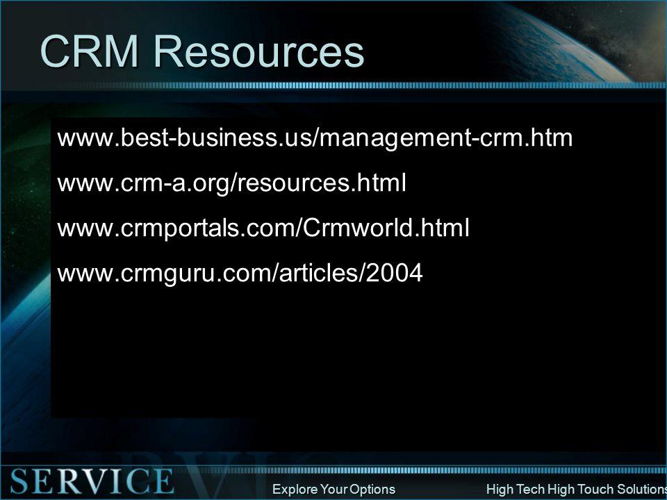 CRM Resources www.best-business.us/management-crm.htm